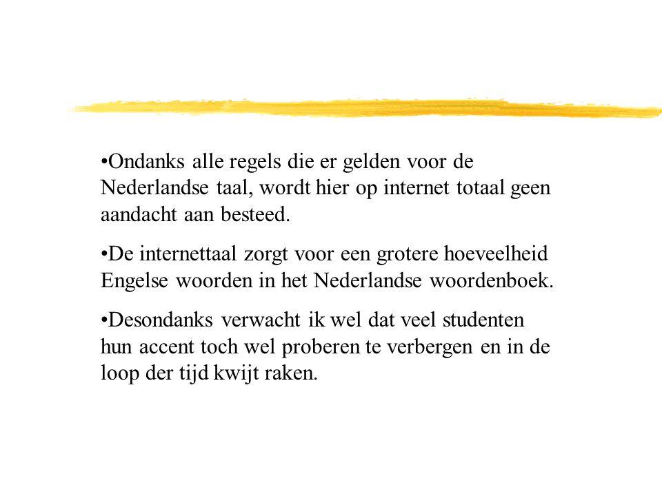 Ondanks alle regels die er gelden voor de Nederlandse taal, wordt hier op internet totaal geen aandacht aan besteed.