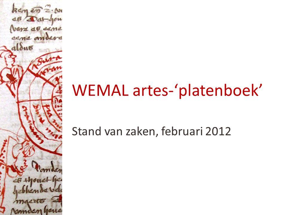 WEMAL artes-'platenboek' Stand van zaken, februari 2012