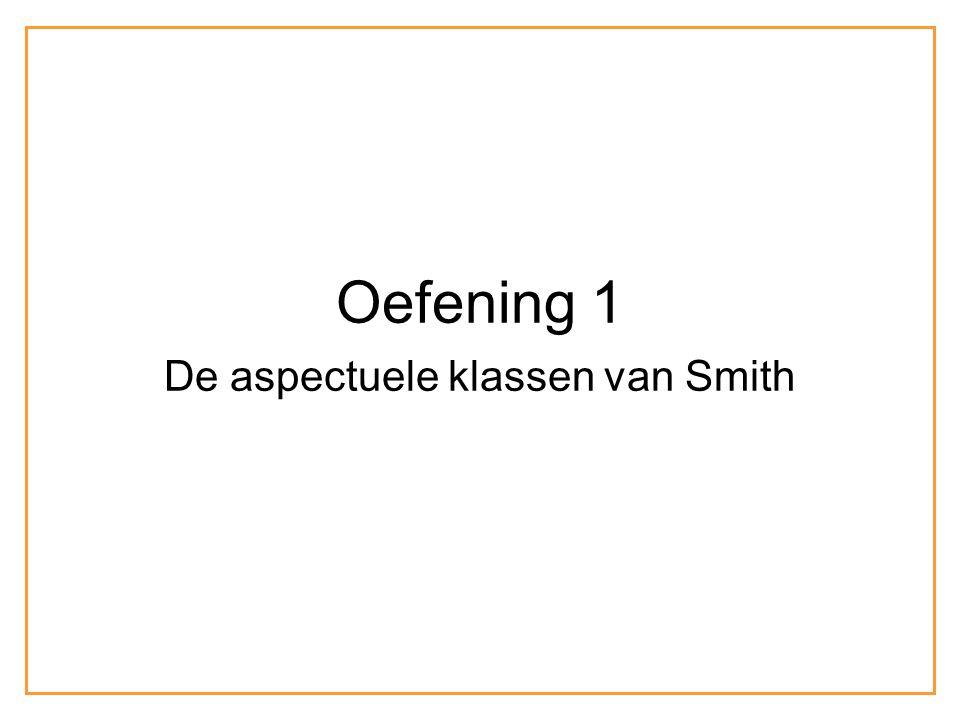 Oefening 1 De aspectuele klassen van Smith