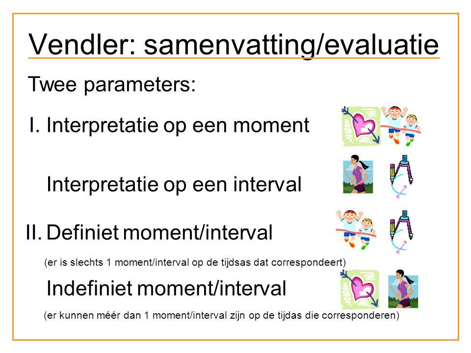 state activity accomplishment achievement Vendler: samenvatting/evaluatie