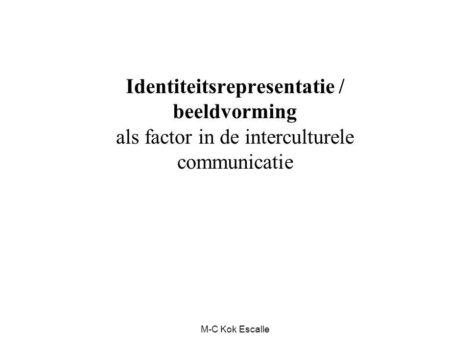 Identiteitsrepresentatie / beeldvorming als factor in de interculturele communicatie M-C Kok Escalle