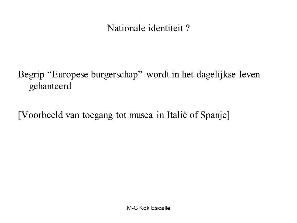 """Nationale identiteit ? Begrip """"Europese burgerschap"""" wordt in het dagelijkse leven gehanteerd [Voorbeeld van toegang tot musea in Italië of Spanje] M-"""