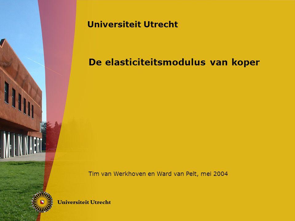 De elasticiteitsmodulus van koper Tim van Werkhoven en Ward van Pelt, mei 2004 Universiteit Utrecht