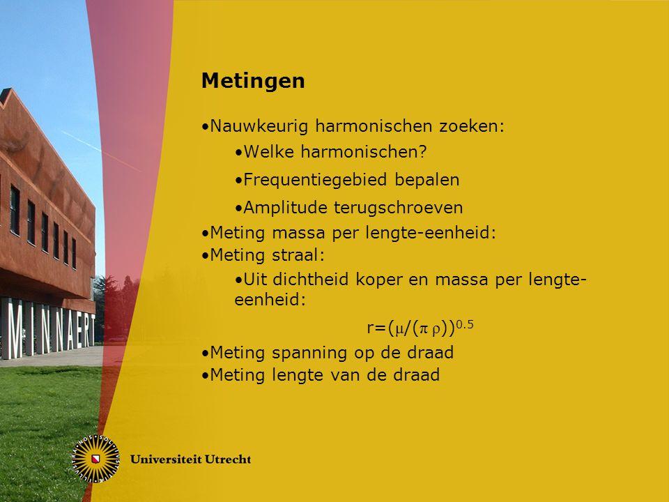 Metingen Nauwkeurig harmonischen zoeken: Welke harmonischen.