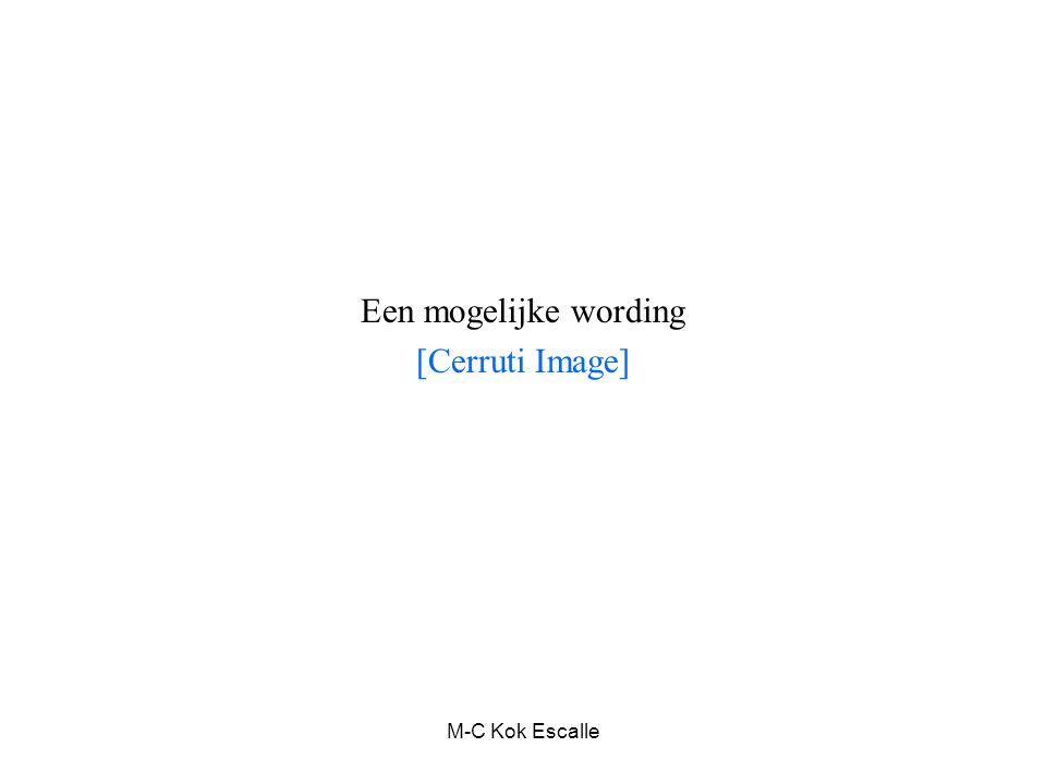 M-C Kok Escalle Een mogelijke wording [Cerruti Image]