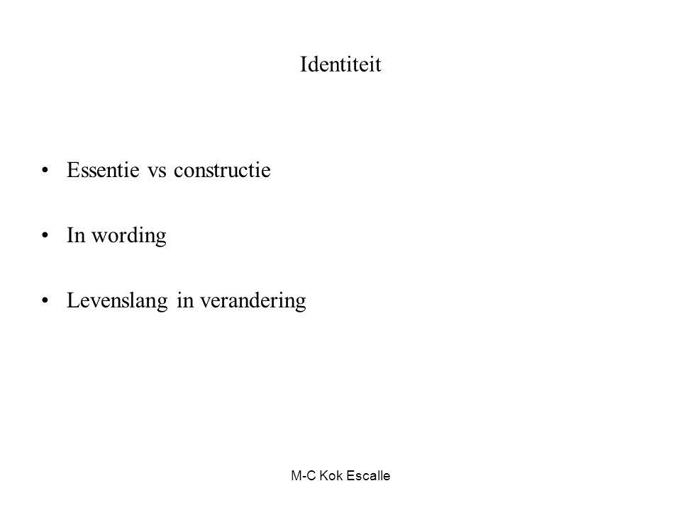 M-C Kok Escalle Identiteit Drukt zich uit in narratieven / verhalen