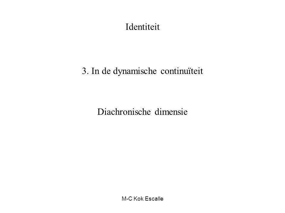 M-C Kok Escalle Identiteit 3. In de dynamische continuïteit Diachronische dimensie