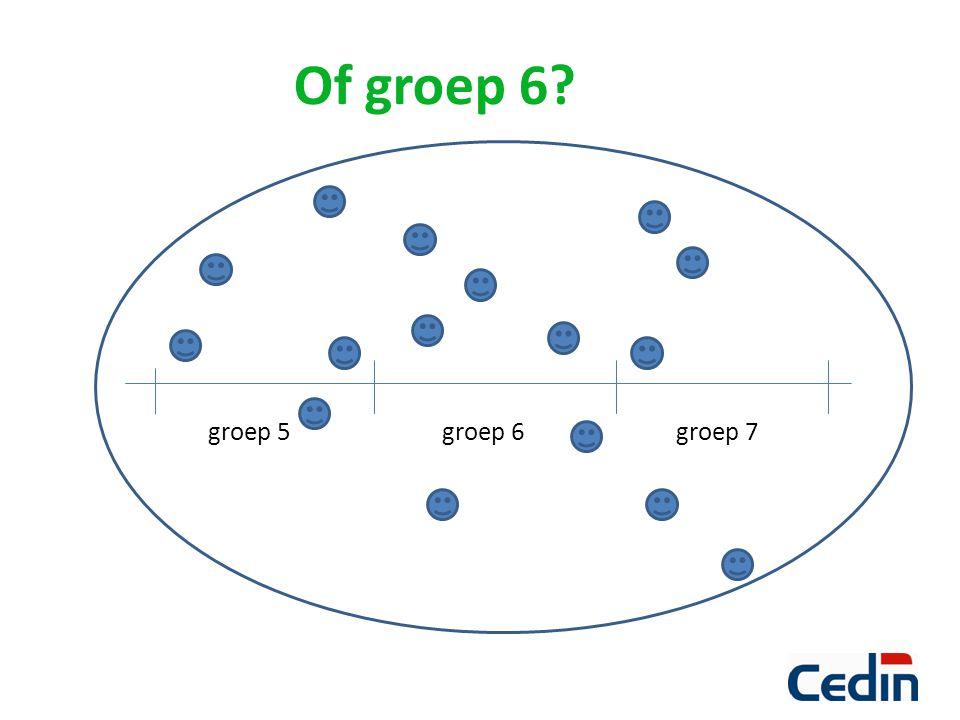 Of groep 6? groep 5groep 6 groep 7