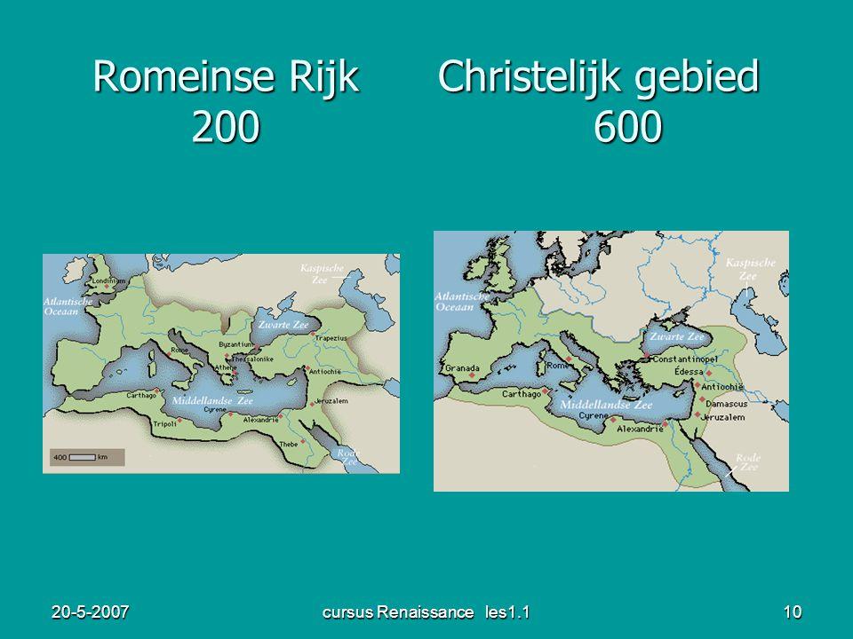 20-5-2007cursus Renaissance les1.110 Romeinse Rijk Christelijk gebied 200 600
