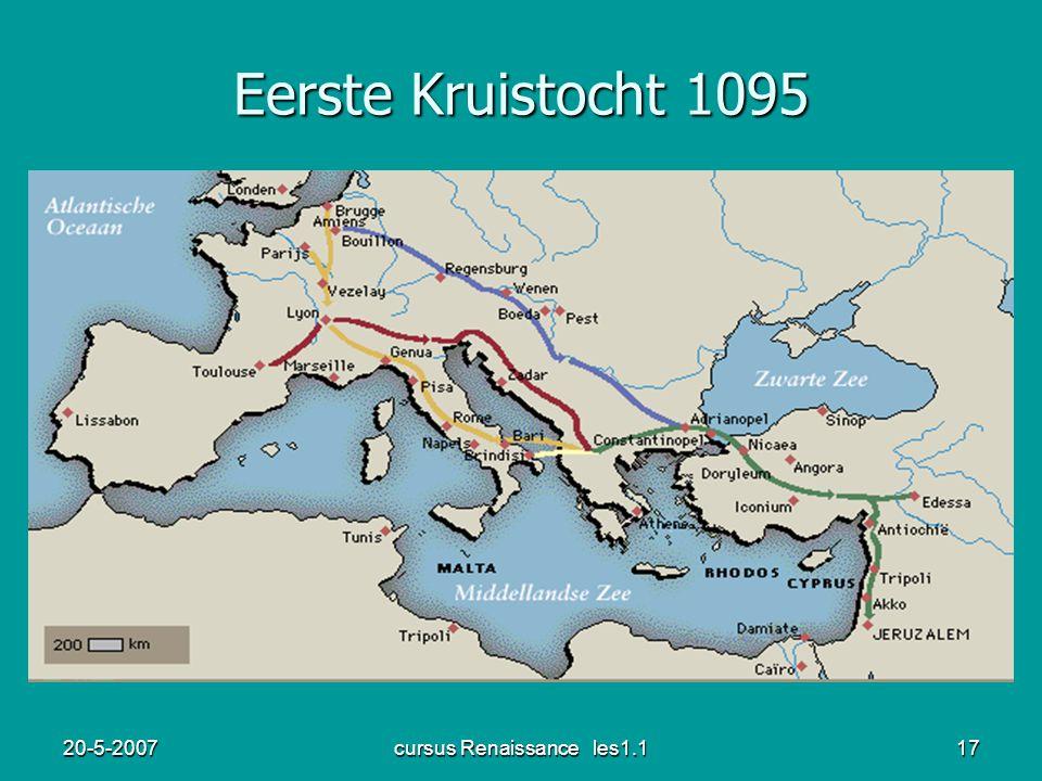 20-5-2007cursus Renaissance les1.117 Eerste Kruistocht 1095