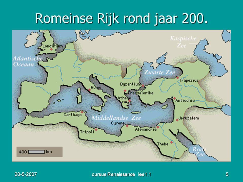 20-5-2007cursus Renaissance les1.15 Romeinse Rijk rond jaar 200.