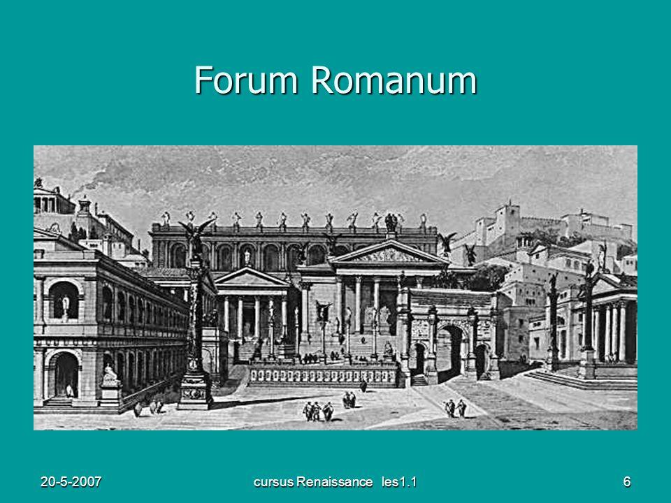 20-5-2007cursus Renaissance les1.16 Forum Romanum