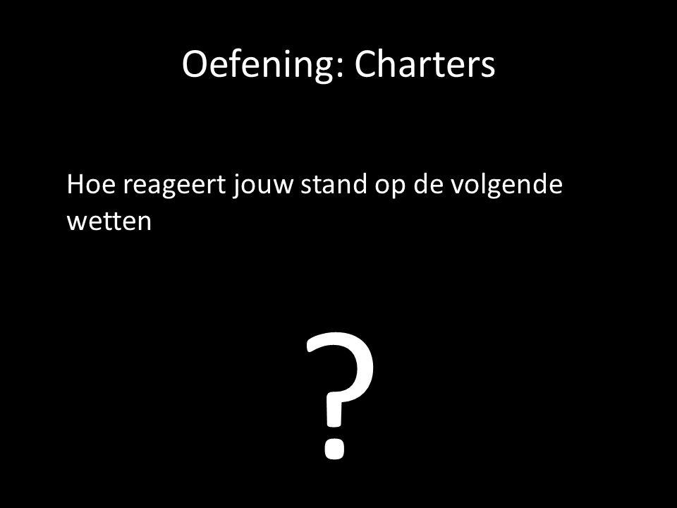 Oefening: Charters Hoe reageert jouw stand op de volgende wetten ?