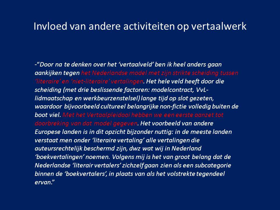 """Invloed van andere activiteiten op vertaalwerk -""""Door na te denken over het 'vertaalveld' ben ik heel anders gaan aankijken tegen het Nederlandse mode"""