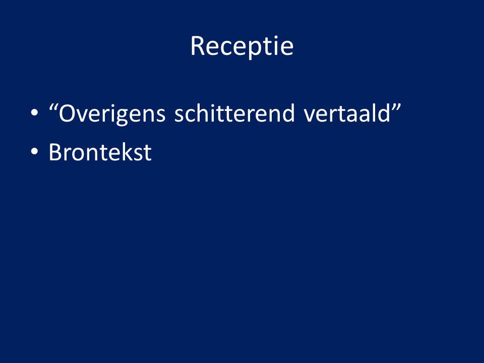 Positie Coördinaten: – Keuzevrijheid selectie teksten = vrij – Relaties uitgeverijen/bronauteurs = goed – Poëtica: dominant t.o.