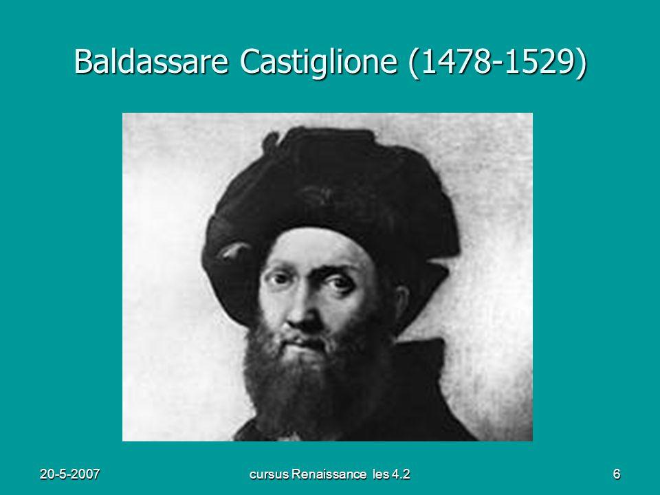20-5-2007cursus Renaissance les 4.26 Baldassare Castiglione (1478-1529)