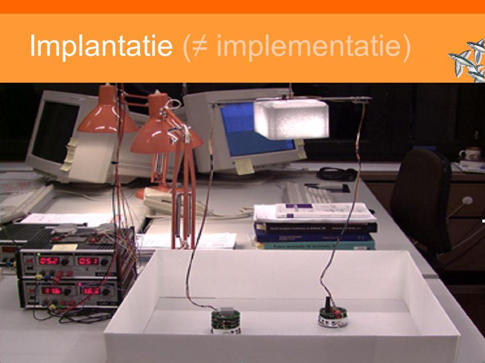 Inleiding Adaptieve Systemen, Opleiding CKI, Utrecht. Auteur: Gerard Vreeswijk Implantatie (≠ implementatie)