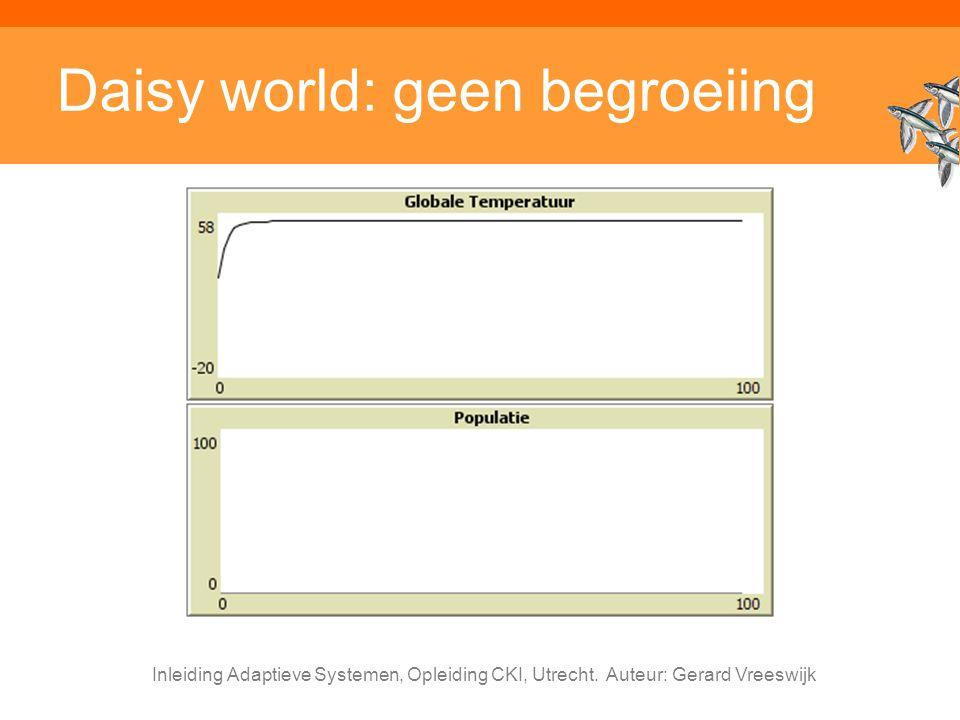 Inleiding Adaptieve Systemen, Opleiding CKI, Utrecht. Auteur: Gerard Vreeswijk Daisy world: geen begroeiing