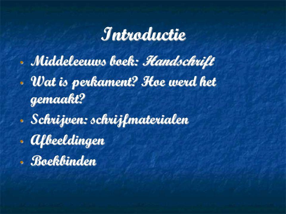 Introductie Middeleeuws boek: Handschrift Middeleeuws boek: Handschrift Wat is perkament.