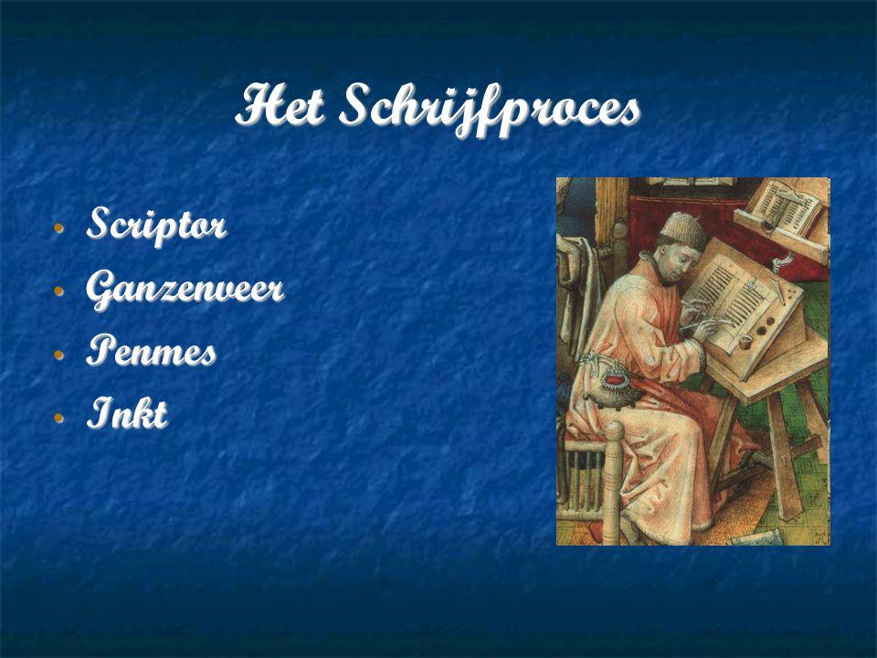 Het Schrijfproces Scriptor Scriptor Ganzenveer Ganzenveer Penmes Penmes Inkt Inkt