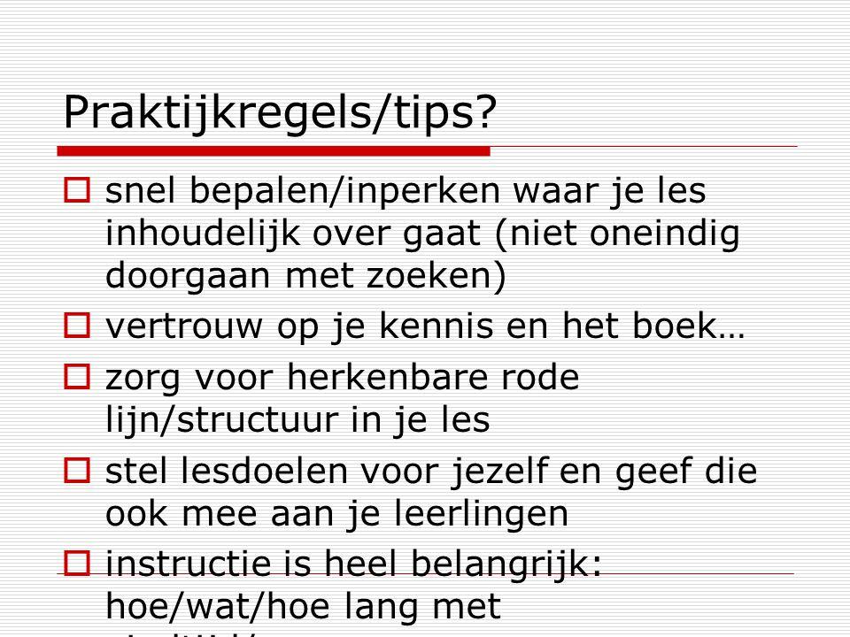Praktijkregels/tips.
