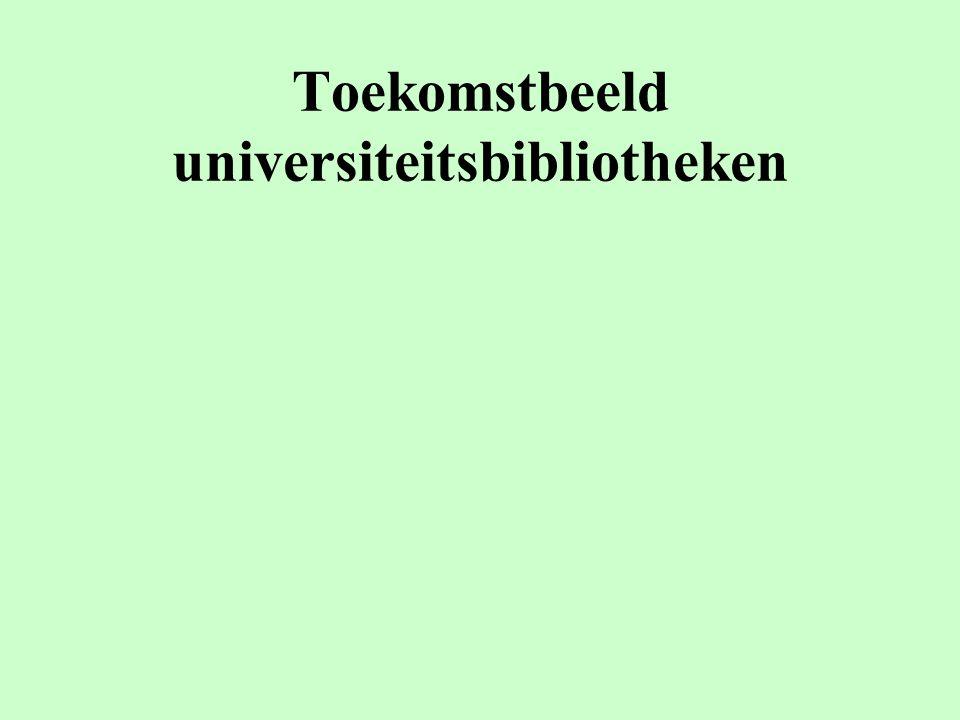 Toekomstbeeld universiteitsbibliotheken
