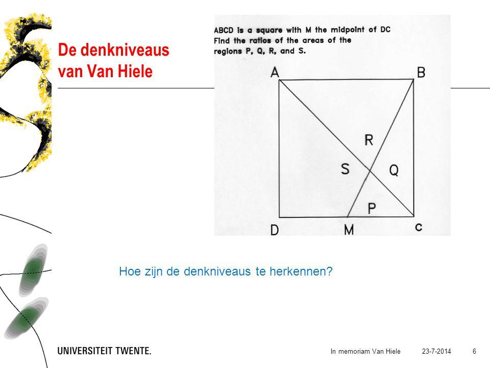 23-7-2014In memoriam Van Hiele 7 Hoe bereik je niveauverhóging.