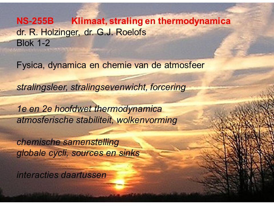 NS-255BKlimaat, straling en thermodynamica dr. R.