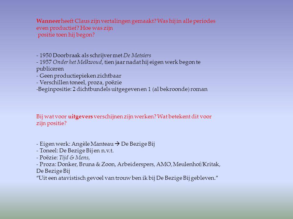 Latere receptie: -Witman, Bob, De schittering van het woord 'Onder het melkwoud' van Dylan Thomas roept op tot zonde de Volkskrant (23/05/1997) -Opvoering in 2009 - De Morgen (27/08/2009) - Volkskrant (31/08/2009) - NRC Handelsblad (27/08/2009) - Trouw (22/09/2009) - Marja Pruis in De Groene Amsterdammer (09/09/2009)