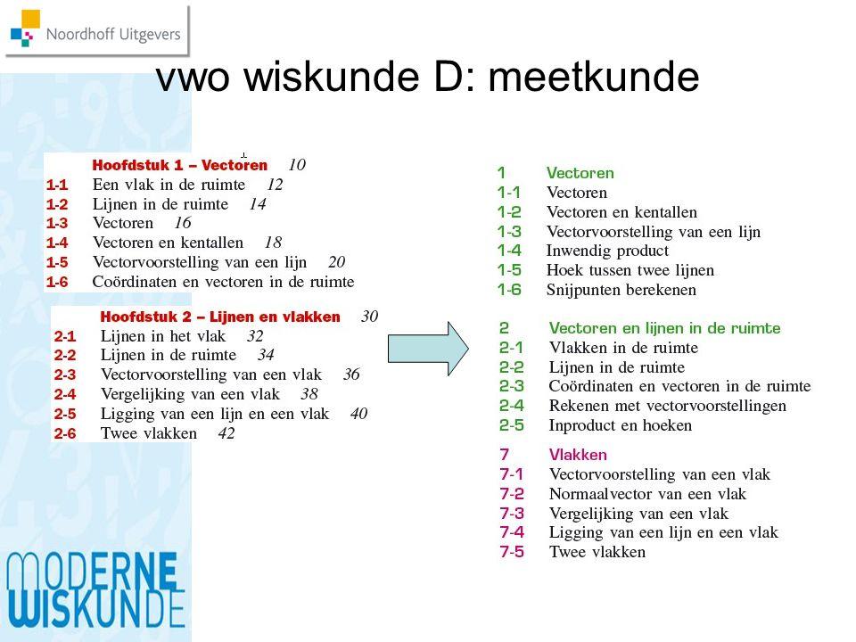 vwo wiskunde D: meetkunde