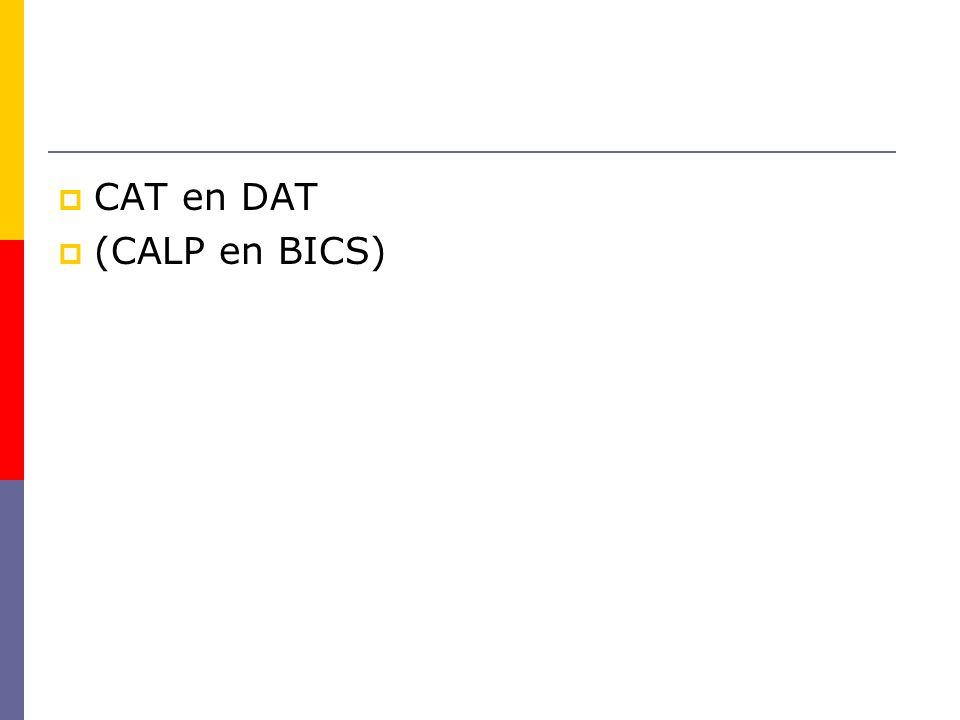  CAT en DAT  (CALP en BICS)