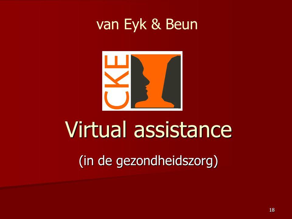 18 Virtual assistance (in de gezondheidszorg) van Eyk & Beun