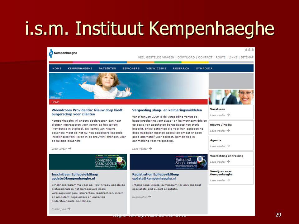 Rogier van Eijk VIDI 25 mei 200529 i.s.m. Instituut Kempenhaeghe