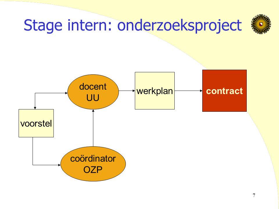 8 Werkplan  Beschrijving projectgever (extern) en stageopdracht  Probleemstelling/onderzoeksvraag  Verwachte output  Aanpak  Literatuur  Planning (mijlpalen+data!)