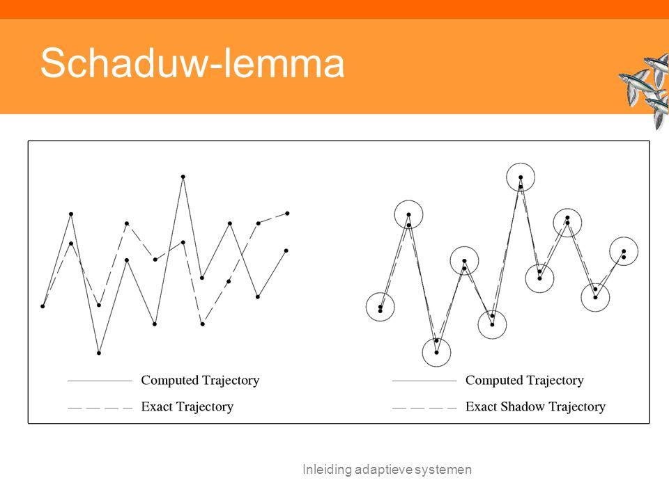 Inleiding adaptieve systemen Schaduw-lemma