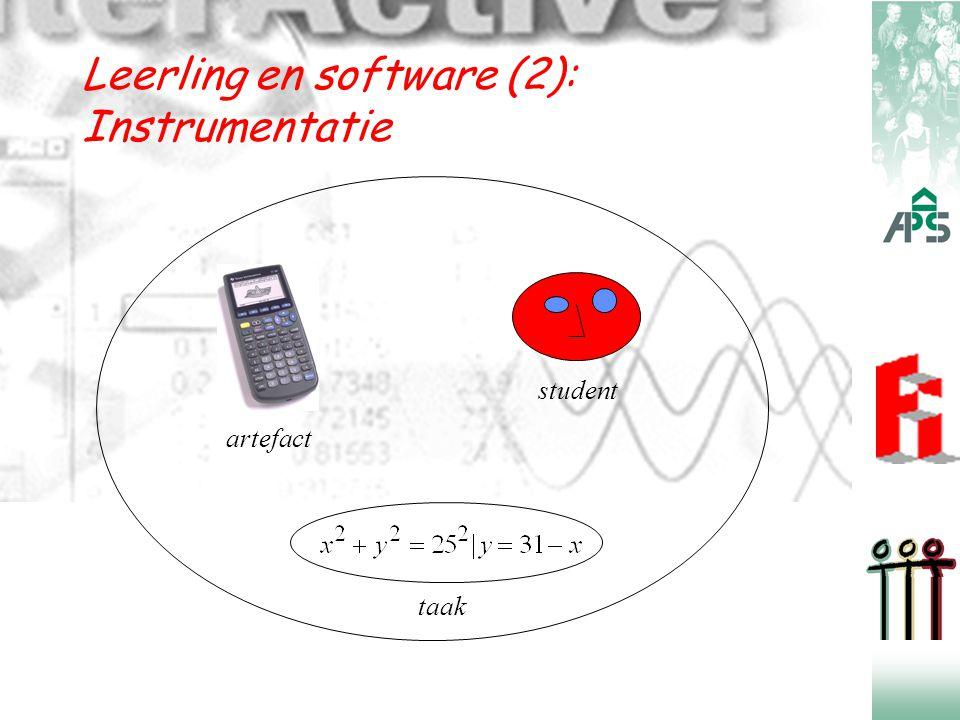 Leerling en software (3):  Leerling moet instrumentatieschema's opbouwen, die een technische en een conceptuele component bevatten.