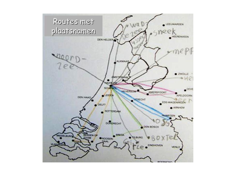 Routes met plaatsnamen