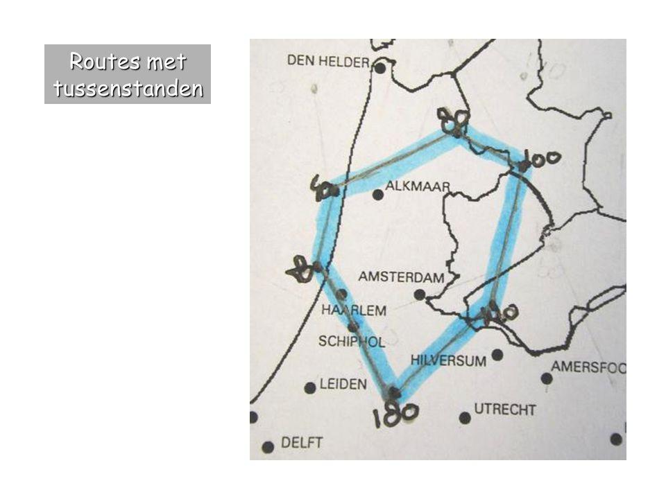 Routes met tussenstanden
