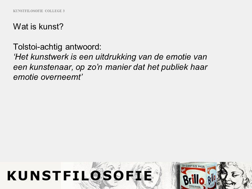 KUNSTFILOSOFIE COLLEGE 3 KUNSTWERK Kunstenaar Publiek Werkelijkheid Andere werken Oorspr.