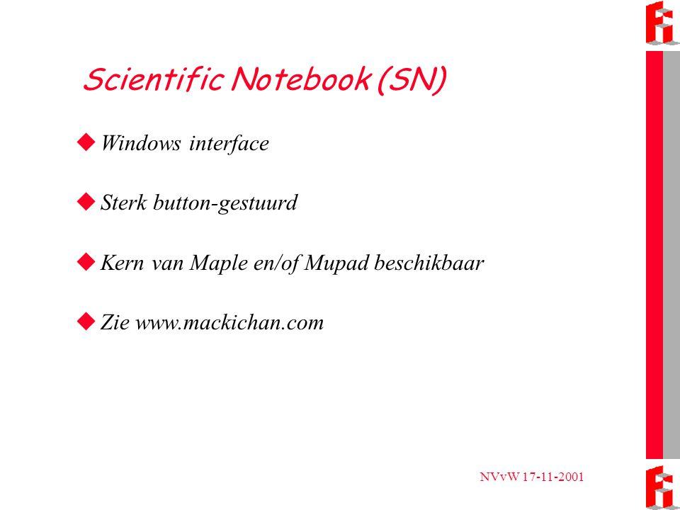 NVvW 17-11-2001 Projecten in Nederland  APS-scholennetwerken TII en Studyworks (zie www.aps.nl/t3)  FI-onderzoek 'Algebra leren in een computeralgebra omgeving' (TI-89, niet echt DLW) (zie www.fi.uu.nl/nl/indexprojecten.html).