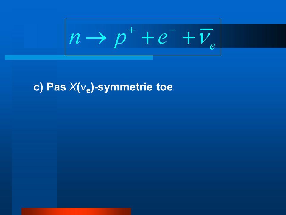 c) Pas X( e )-symmetrie toe