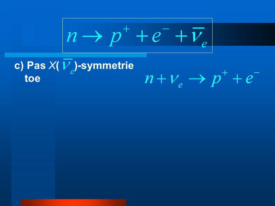 c) Pas X( )-symmetrie toe