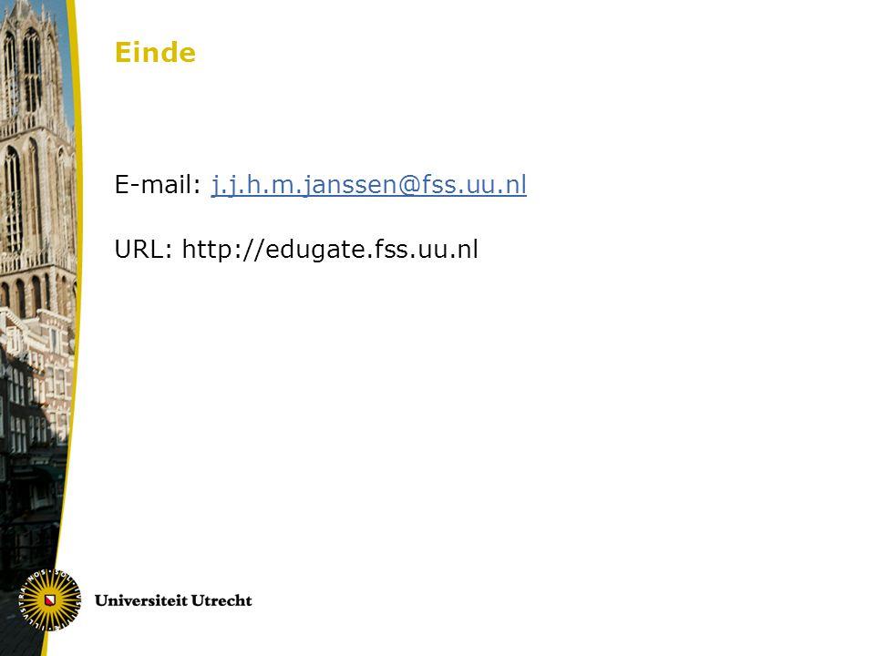 Einde E-mail: j.j.h.m.janssen@fss.uu.nlj.j.h.m.janssen@fss.uu.nl URL: http://edugate.fss.uu.nl