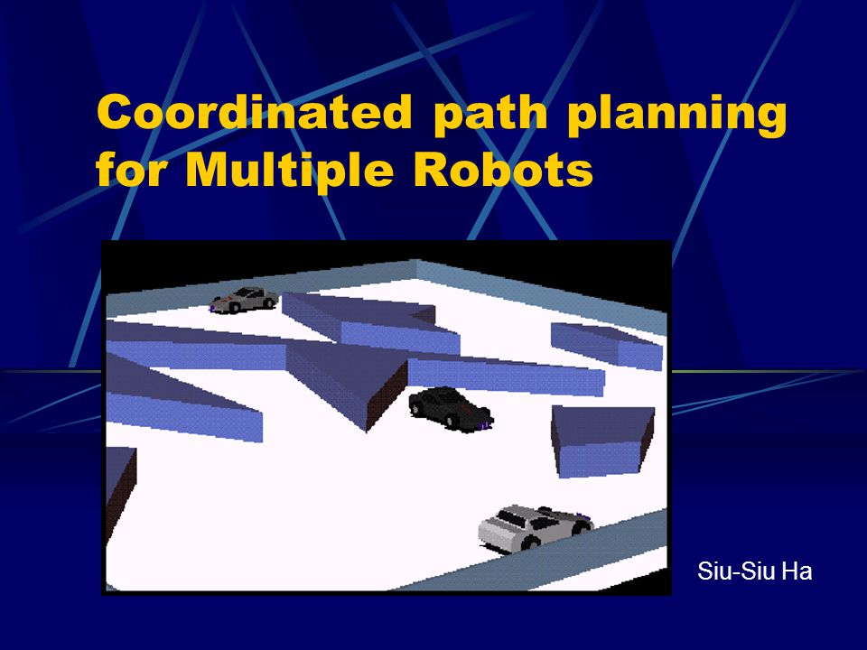 Coordinated path planning for Multiple Robots Siu-Siu Ha