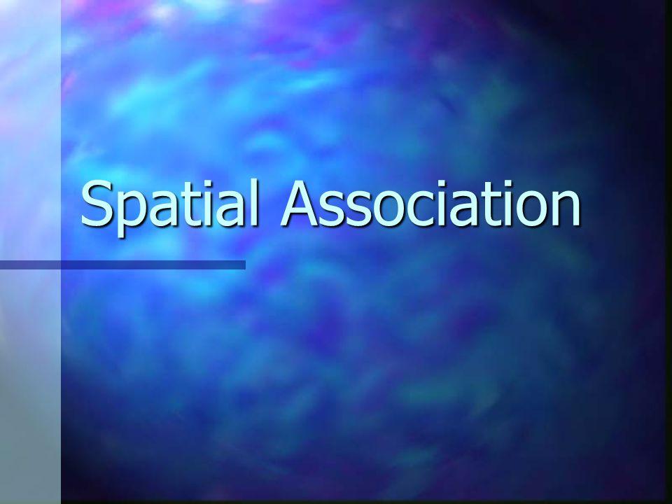 Spatial Association Rule X → Y X → Y P 1 .. P m → Q1 ..