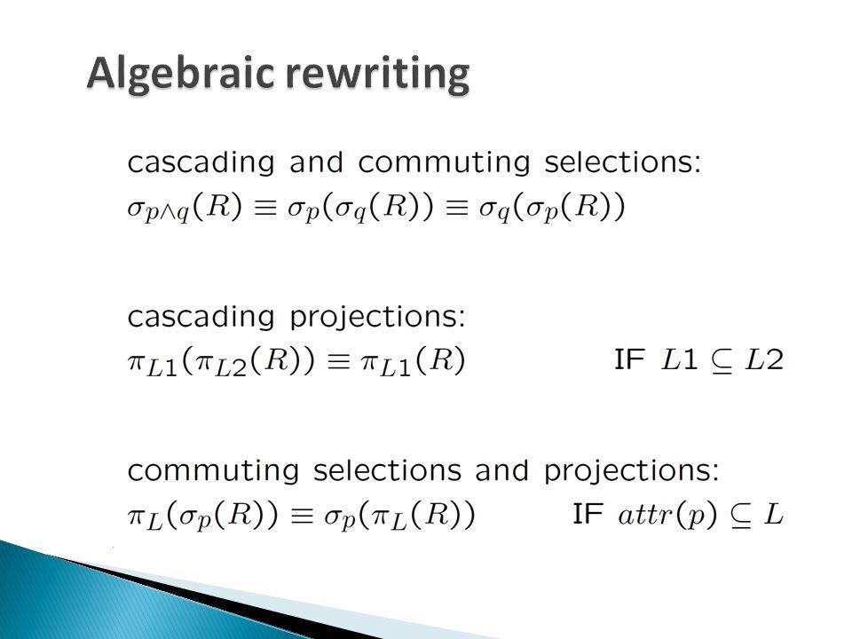 Bucket: h(a) = 0 Bucket: h(a) = 1 Bucket: h(a) = 2 AB 3b 7d AC 7i 8j AB 12a 13e 12f AC l AB 29c 27g AC 29h 28k Join each bucket in main memory: ABC 7di 12al fl adds: AB 12a 13e 12f AC l