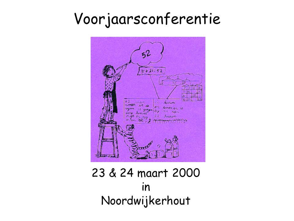 Voorjaarsconferentie 23 & 24 maart 2000 in Noordwijkerhout