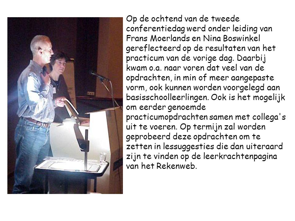 Op de ochtend van de tweede conferentiedag werd onder leiding van Frans Moerlands en Nina Boswinkel gereflecteerd op de resultaten van het practicum van de vorige dag.