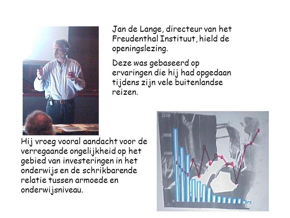 Jan de Lange, directeur van het Freudenthal Instituut, hield de openingslezing.