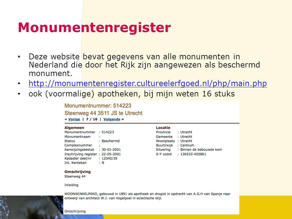 Erfgoedthesaurus en Erfgoedsuite Rijksdienst voor het Cultureel Erfgoed, http://www.erfgoedthesaurus.nl/ http://www.erfgoedthesaurus.nl/ Het Referentienetwerk Erfgoed bevat de gestructureerde verzamelingen van begrippen van het Cultureel Erfgoed in Nederland.